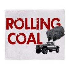 Rolling Coal Throw Blanket