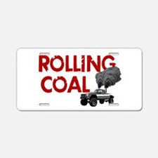 Rolling Coal Aluminum License Plate