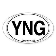 YNG Oval Decal