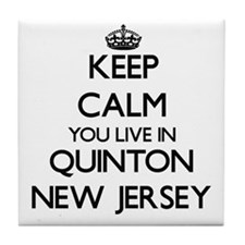 Keep calm you live in Quinton New Jer Tile Coaster