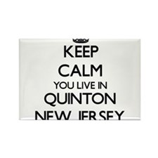 Keep calm you live in Quinton New Jersey Magnets