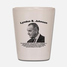 LBJ: Challenge Shot Glass