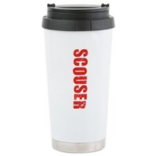 Scouser Red Grunge Travel Mug