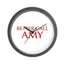 BETTER CALL AMY-Opt red2 550 Wall Clock