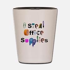 Office Supplies Shot Glass