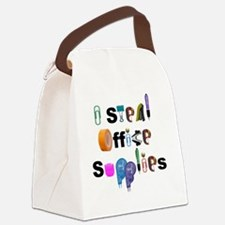 Office Supplies Canvas Lunch Bag