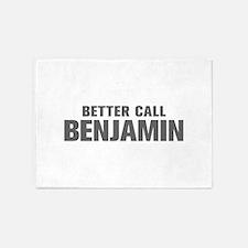 BETTER CALL BENJAMIN-Akz gray 500 5'x7'Area Rug