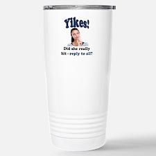 Yikes! Stainless Steel Travel Mug