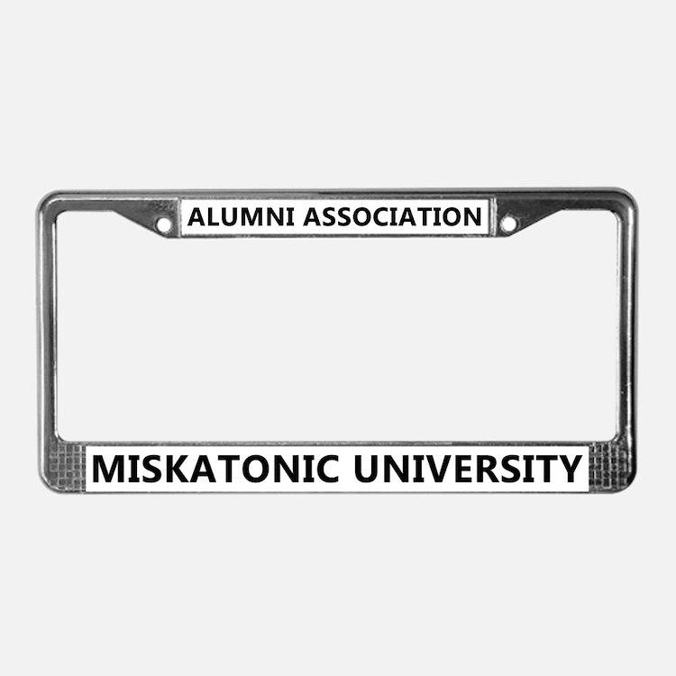 Miskatonic U. Alumni License Plate Frame (White)