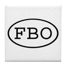FBO Oval Tile Coaster