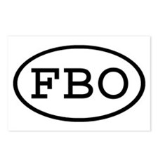FBO Oval Postcards (Package of 8)