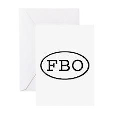 FBO Oval Greeting Card