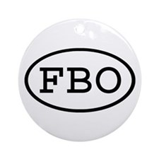 FBO Oval Ornament (Round)