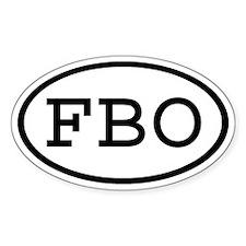 FBO Oval Oval Decal