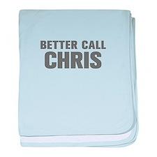 BETTER CALL CHRIS-Akz gray 500 baby blanket