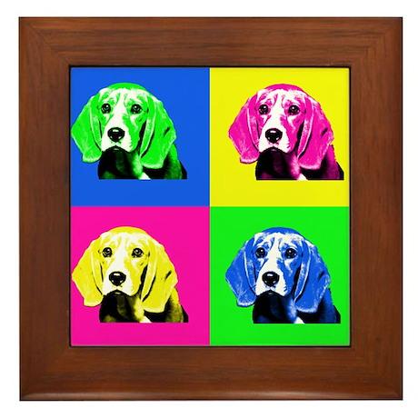 Pop Art Bagel<br> Framed Tile