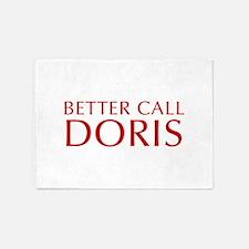 BETTER CALL DORIS-Opt red2 550 5'x7'Area Rug