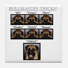 Cool Bullmastiff Tile Coaster