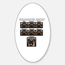 Cute Mastiff Sticker (Oval)