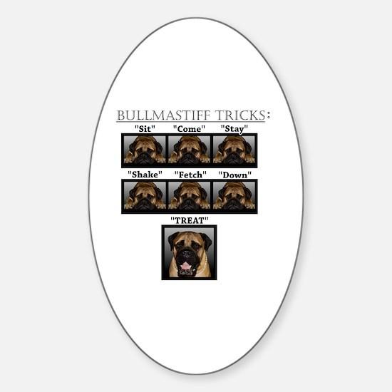 Cute Bullmastiff Sticker (Oval)