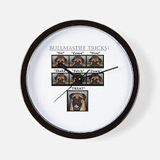 Funny Bullmastiff Wall Clock