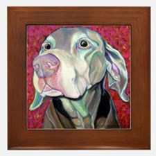 Weimaraner-Just a Sniff Framed Tile