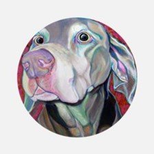 Weimaraner-Just a Sniff Ornament (Round)