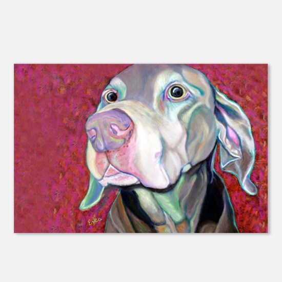 Weimaraner-Just a Sniff Postcards (Package of 8)