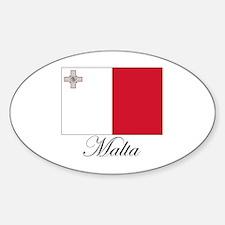 Malta - Flag Oval Decal