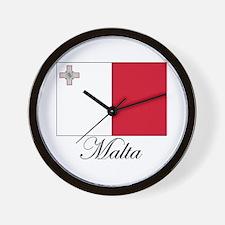 Malta - Flag Wall Clock