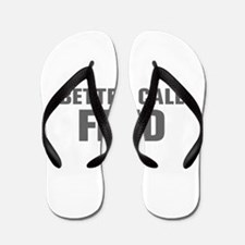 BETTER CALL FRED-Akz gray 500 Flip Flops