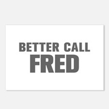 BETTER CALL FRED-Akz gray 500 Postcards (Package o