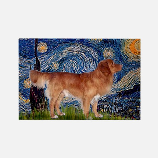 Starry Night Nova Scotia Rectangle Magnet
