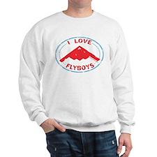 I Love Flyboys -red/blue Sweatshirt
