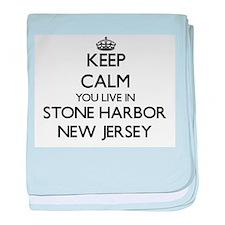 Keep calm you live in Stone Harbor Ne baby blanket