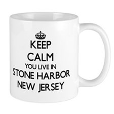 Keep calm you live in Stone Harbor New Jersey Mugs
