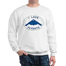 I Love Flyboys -navy/green Sweatshirt
