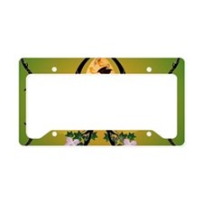 Easter egg with funny dragon License Plate Holder