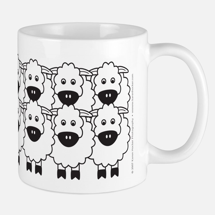 Kelpie and Sheep Mug