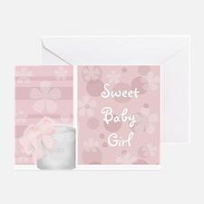 Sweet Baby Girl Greeting Cards (Pk of 10)
