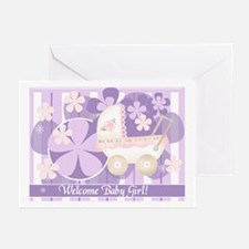 Welcome Baby Girl Greeting Cards (Pk of 10)