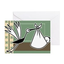 Stork Arrival Baby Greeting Cards (Pk of 10)
