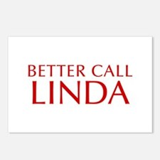 BETTER CALL LINDA-Opt red2 550 Postcards (Package