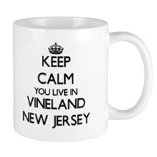 Keep calm you live in Vineland New Jersey Mugs