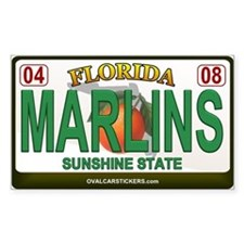 Florida Plate - MARLINS Rectangle Decal