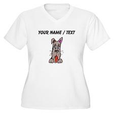 Custom Dog Face Plus Size T-Shirt