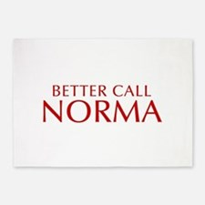BETTER CALL NORMA-Opt red2 550 5'x7'Area Rug