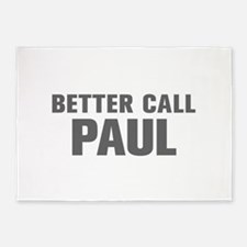 BETTER CALL PAUL-Akz gray 500 5'x7'Area Rug