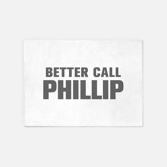 BETTER CALL PHILLIP-Akz gray 500 5'x7'Area Rug