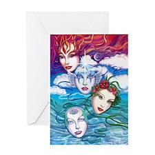 Elemental Masks Greeting Card